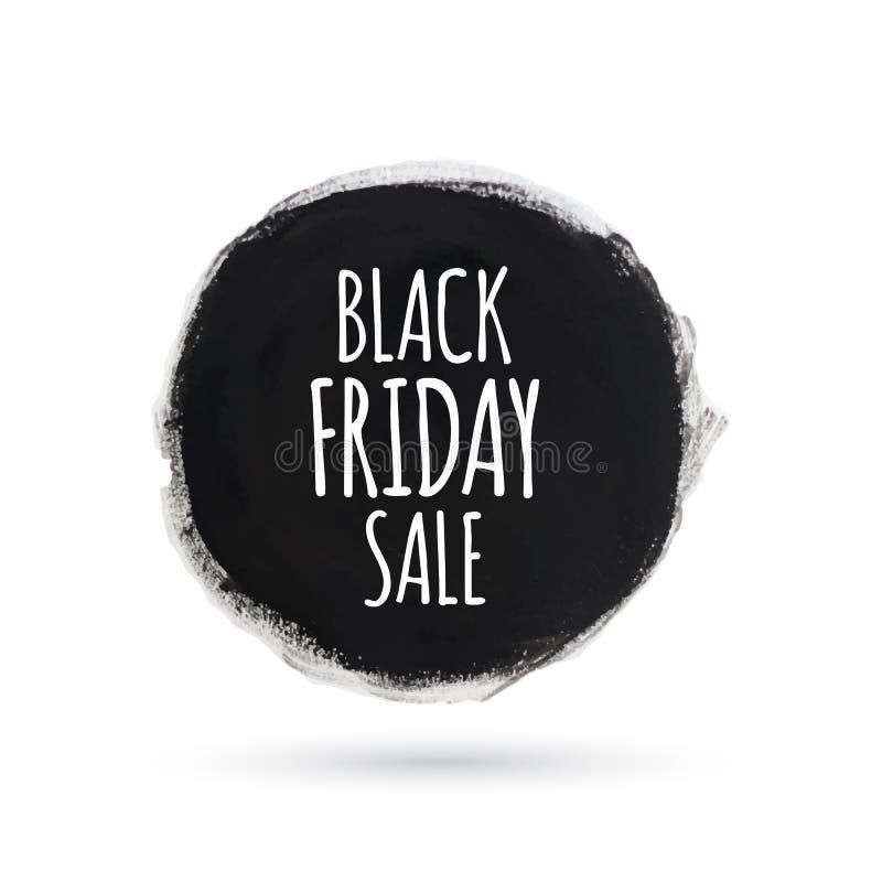 Bannière noire d'aquarelle de tournée de vendredi illustration stock