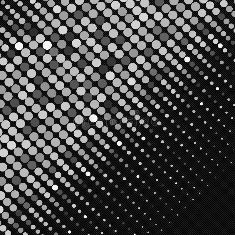 Bannière noire et blanche de dispersion d'abrégé sur points Vecteur illustration libre de droits