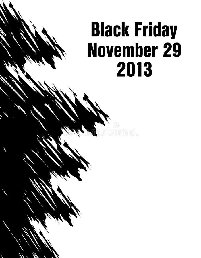 Bannière noire spéciale de vendredi illustration de vecteur
