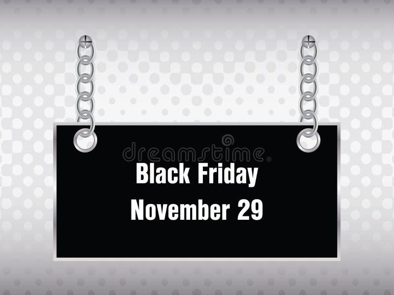 Bannière noire spéciale de vendredi illustration libre de droits