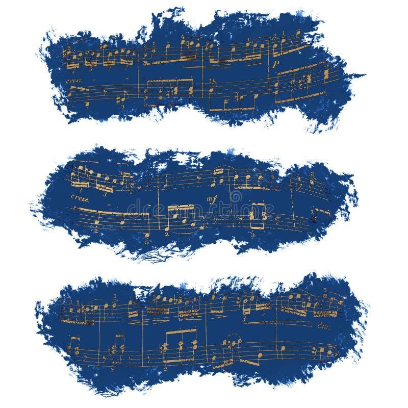 Bannière, notes musicales, fond image libre de droits