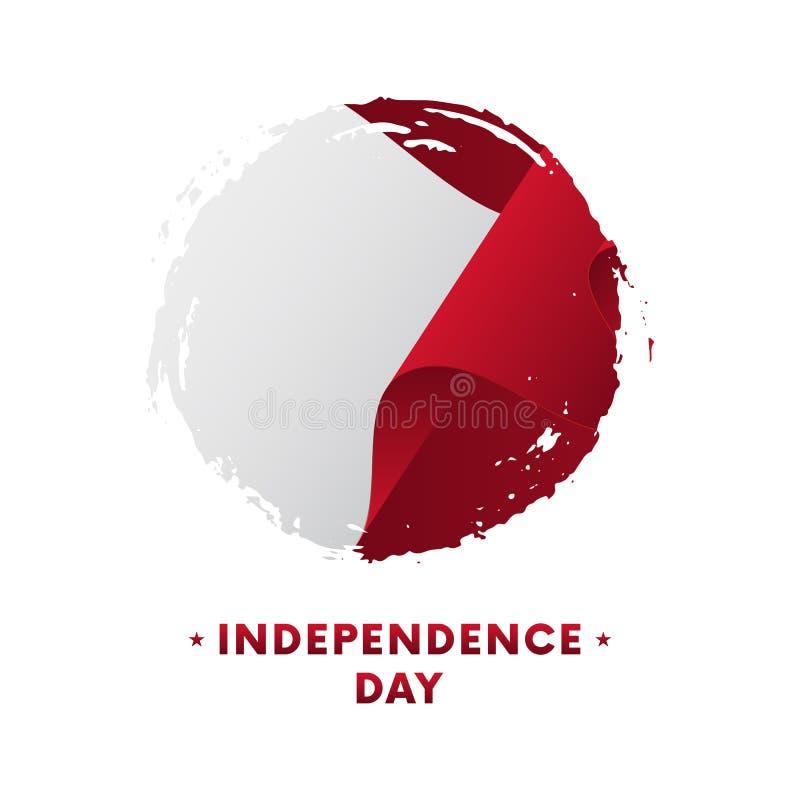 Bannière ou affiche de célébration de Jour de la Déclaration d'Indépendance de Malte Drapeau de ondulation de Malte, fond de cour illustration libre de droits