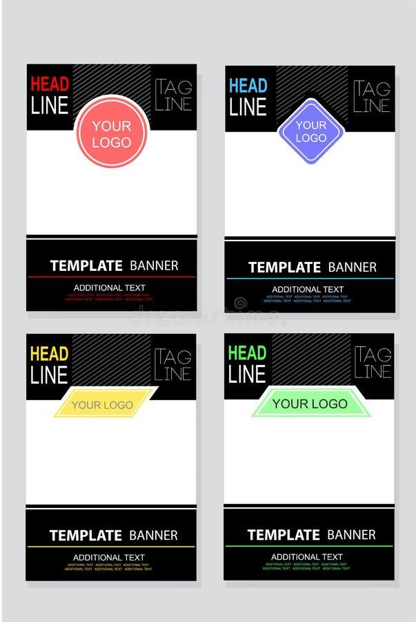 Bannière ou contexte vide d'événement de calibre de quatre styles avec le secteur de placement de logo de sponsor illustration stock