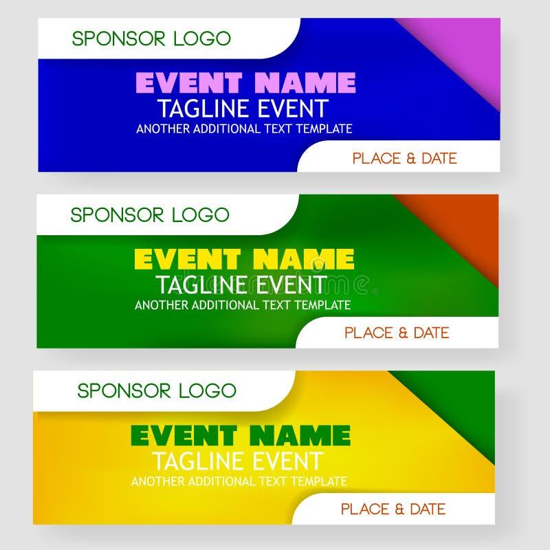 Bannière ou contexte vide d'événement de calibre de quatre styles avec le secteur de placement de logo de sponsor illustration libre de droits