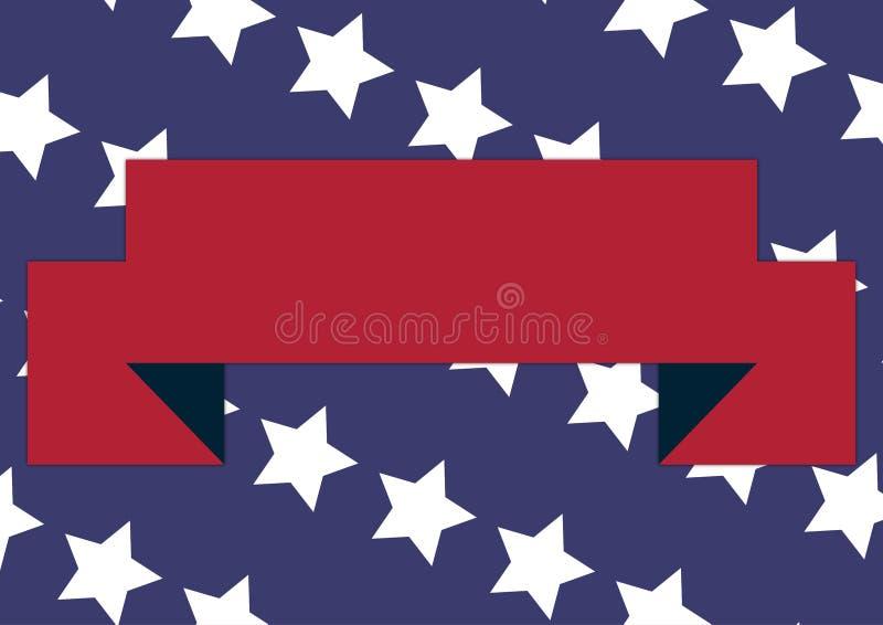 Bannière patriotique illustration libre de droits