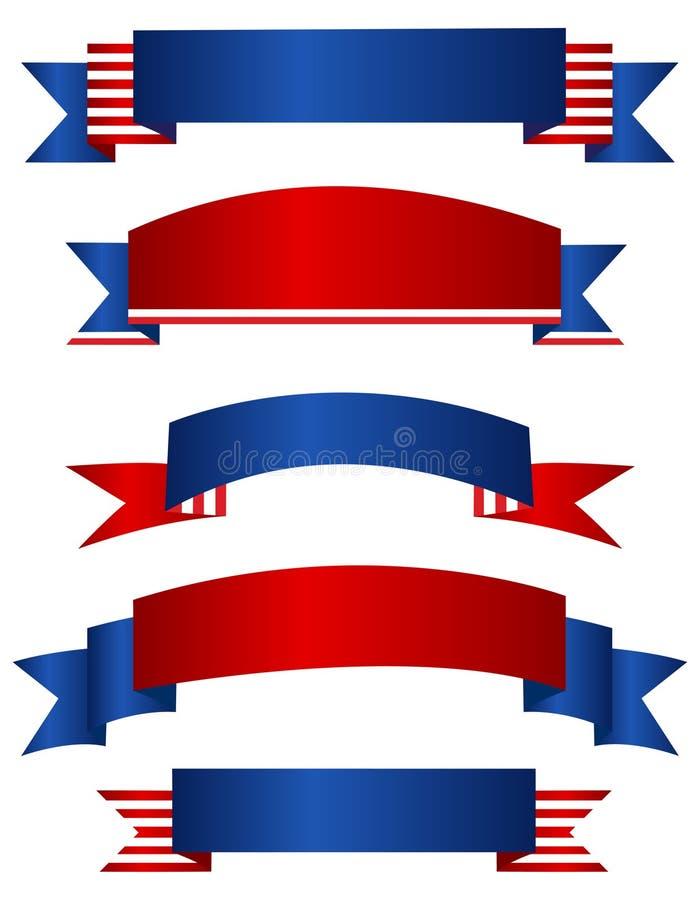 Bannière patriotique/bannières des Etats-Unis illustration libre de droits