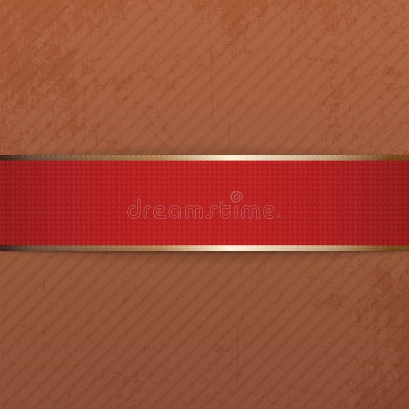 Bannière réaliste de rouge de jour de Noël ou de valentines illustration libre de droits