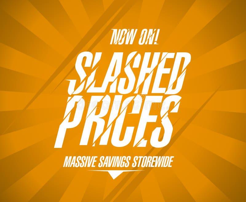 Bannière réduite des prix, storewide massif de l'épargne illustration libre de droits