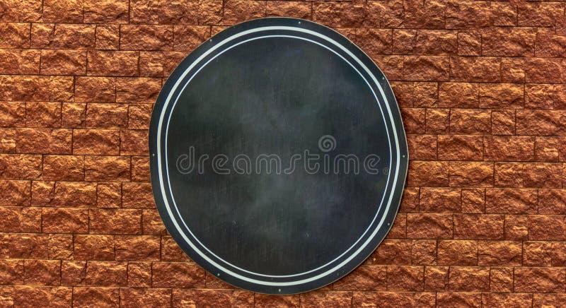Bannière ronde de toile sur le mur photos libres de droits