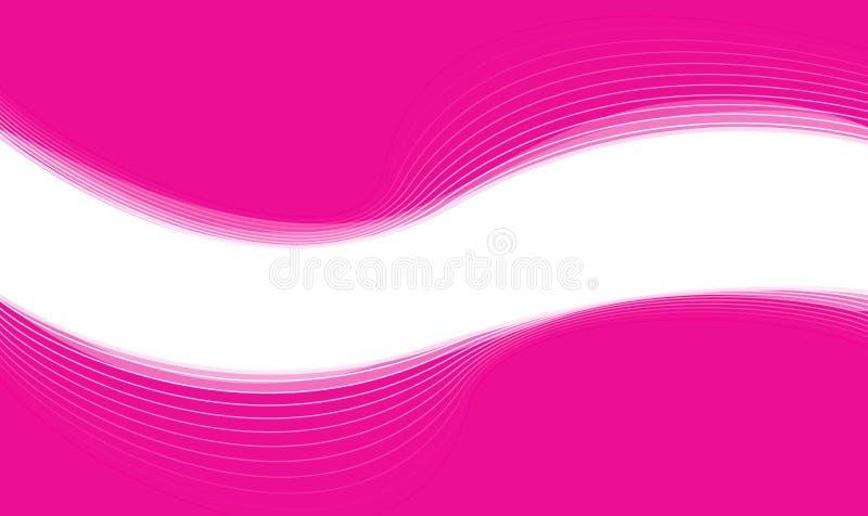 Bannière rose de Web illustration de vecteur