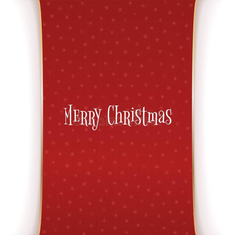 Bannière rouge de Noël avec les flocons de neige blancs illustration stock
