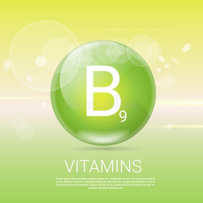 Download Bannière Saine De Concept De La Vie Des Vitamines B9 Avec L'espace De Copie Illustration de Vecteur - Illustration du sain, cuisine: 77159355