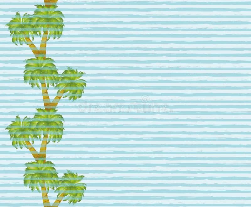 Bannière sans couture de palmier illustration libre de droits