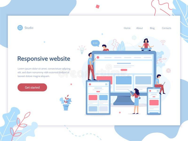 Bannière sensible de Web de conception illustration de vecteur