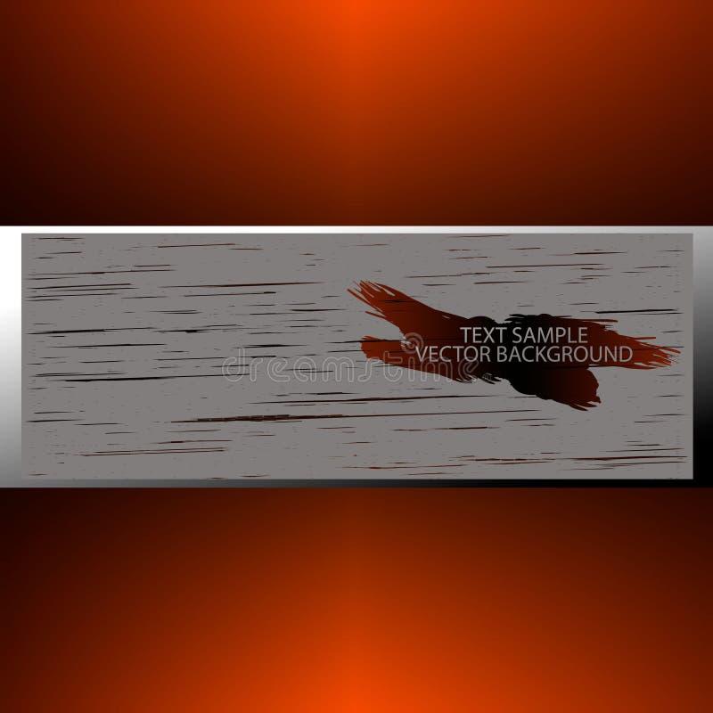 Bannière sous le texte avec la texture en bois photos stock