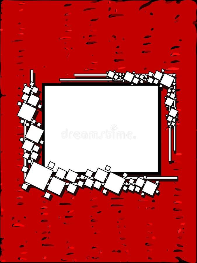Bannière sur le fond coloré abstrait avec des places illustration de vecteur