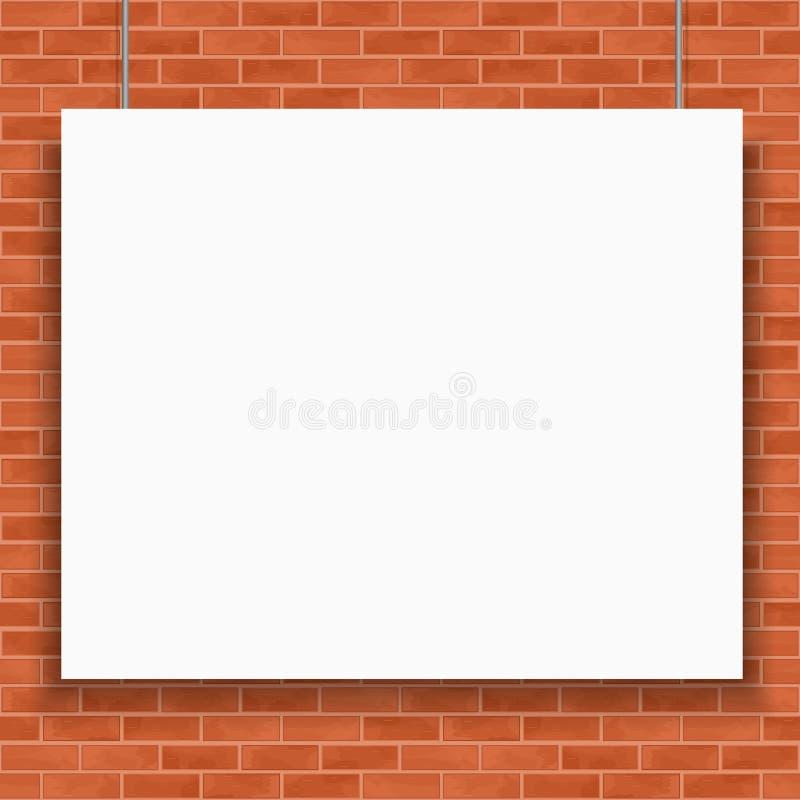 Bannière sur le mur de briques illustration libre de droits