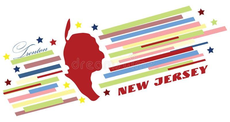 Bannière symbolique de New Jersey illustration de vecteur