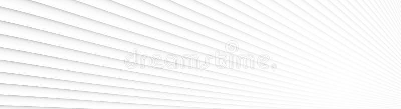 Bannière texturisée géométrique blanche Configuration abstraite de piste illustration de vecteur