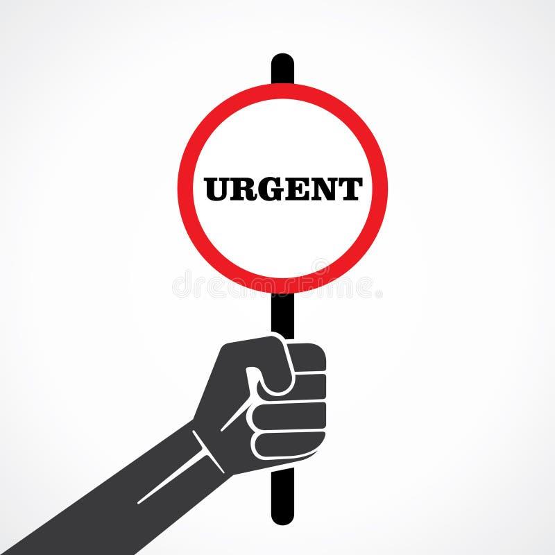 Bannière urgente de mot illustration de vecteur