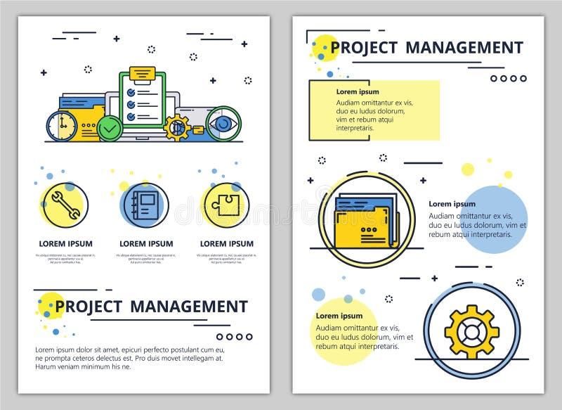 Bannière vecteur d'affiche de gestion des projets de schéma illustration de vecteur