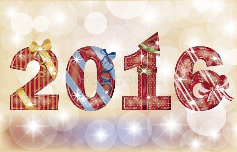 Bannière 2016, vecteur de bonne année illustration de vecteur