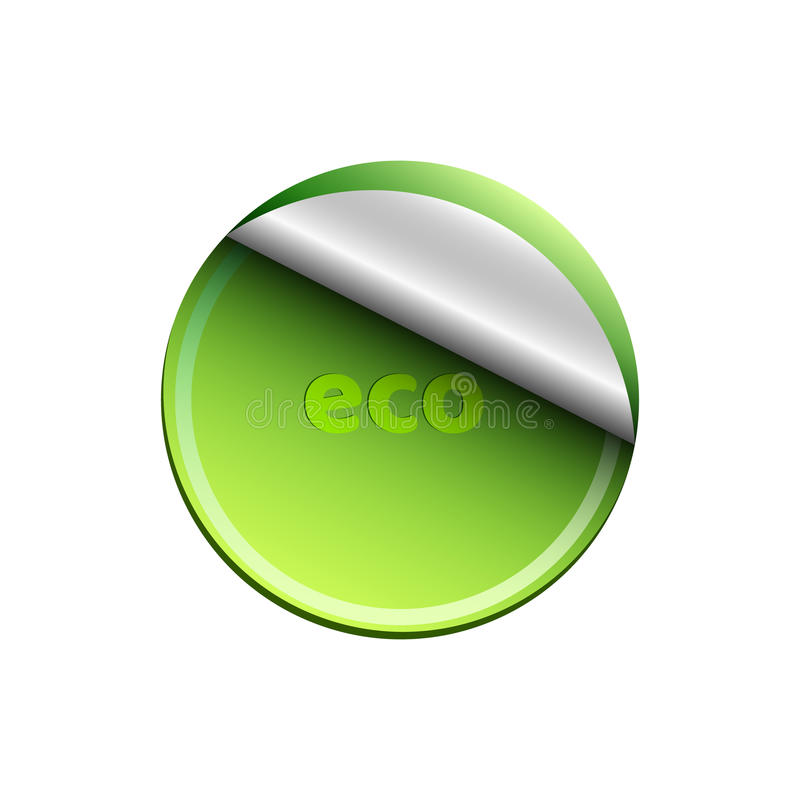 Bannière vert clair écologique d'isolement sur le fond blanc Fond pour vos projets Nature propre et fraîche réaliste illustration stock