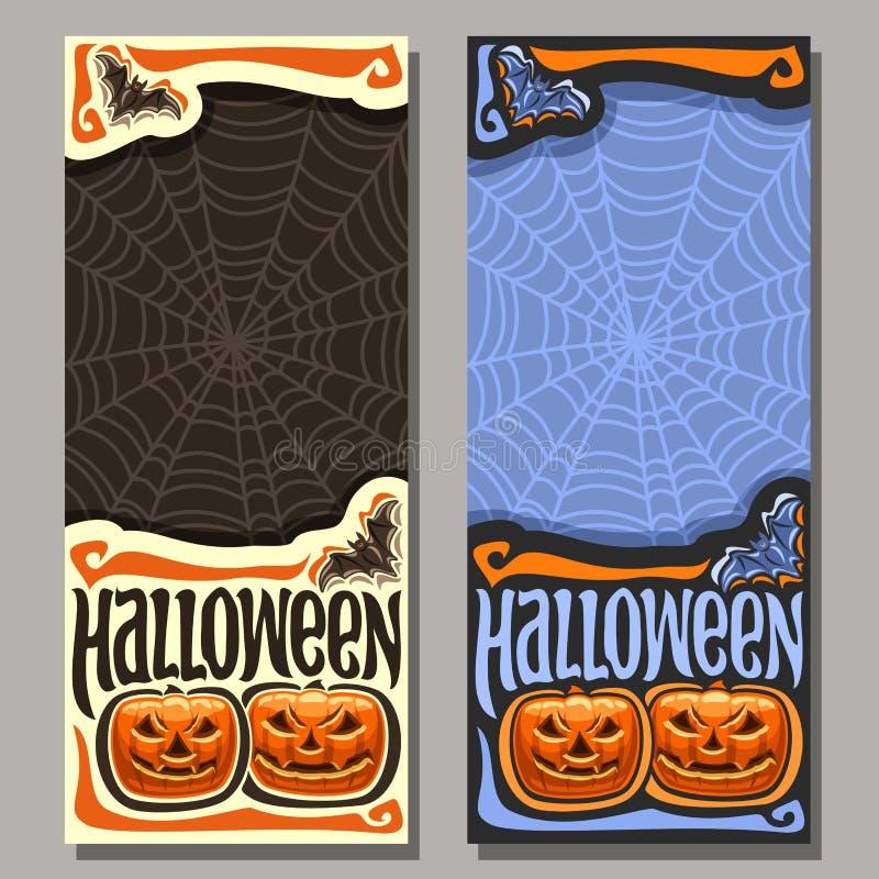 Bannière verticale de vecteur pour Halloween illustration de vecteur