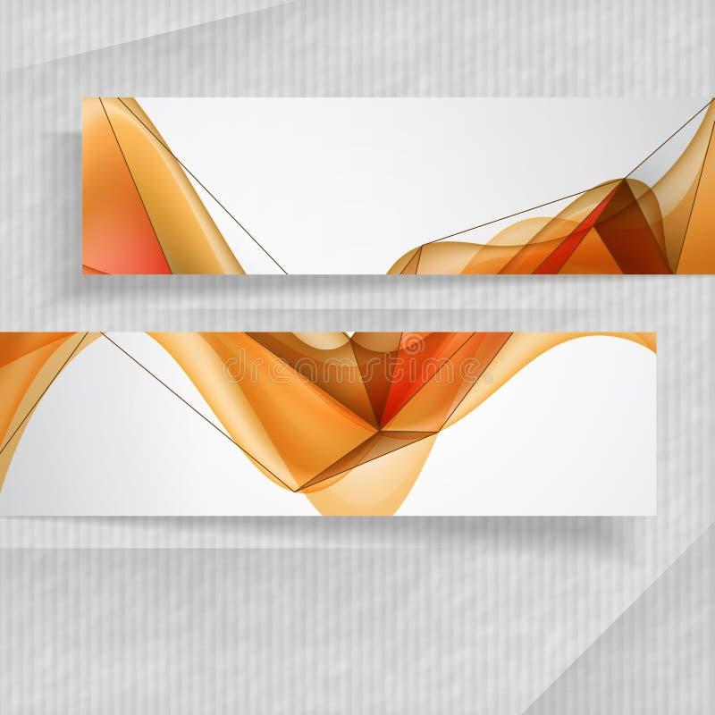 Bannières abstraites illustration stock