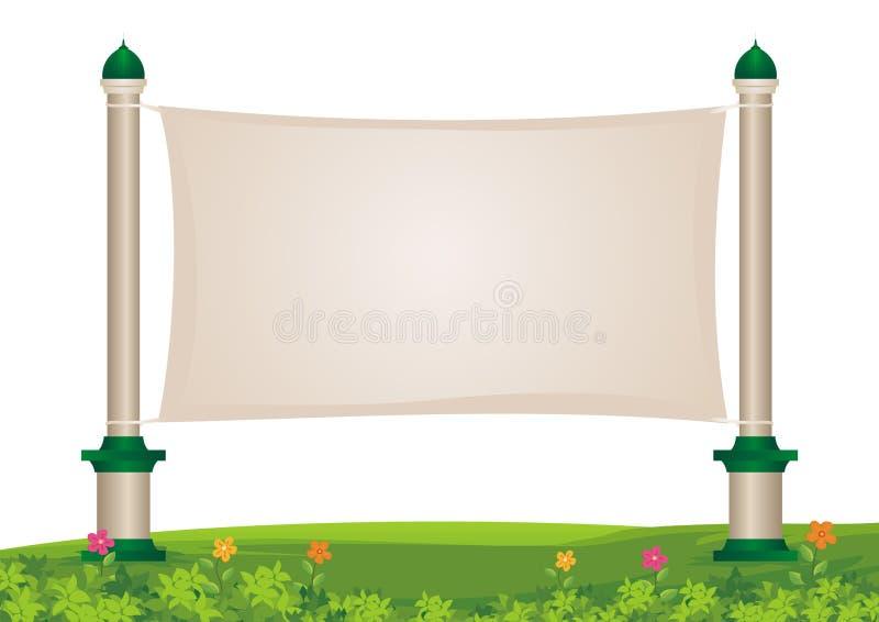 Bannières attachées sur les tours de dôme illustration libre de droits