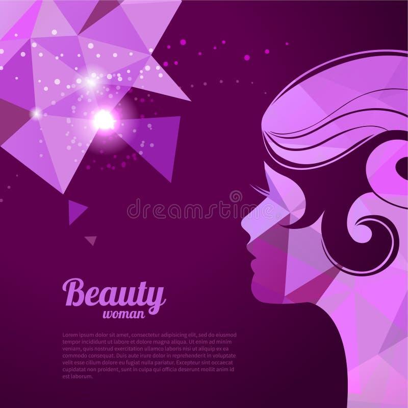 Bannières avec la belle silhouette élégante de femme illustration stock