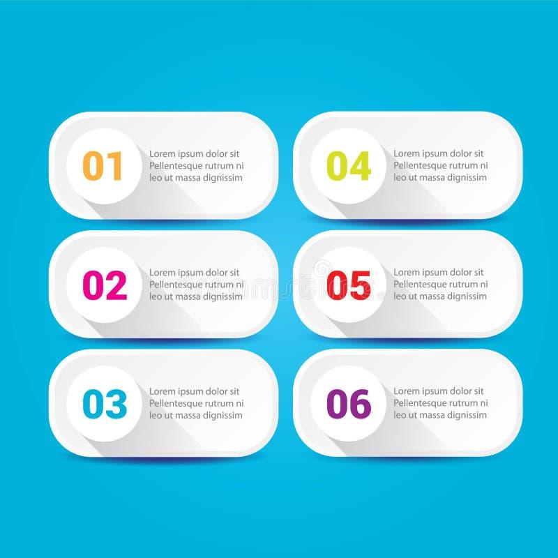 Bannières blanches modernes propres d'Infographic de vecteur réglées illustration stock