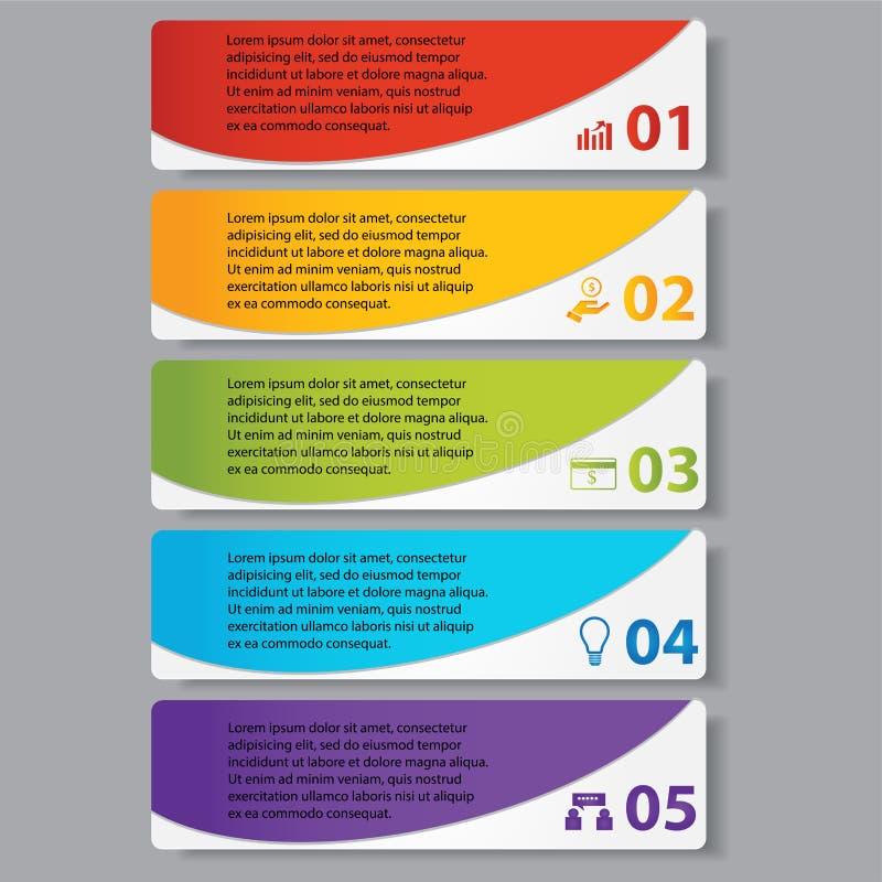 Bannières calibre de nombre d'affaires de conception moderne ou disposition de site Web Information-graphiques Vecteur illustration libre de droits