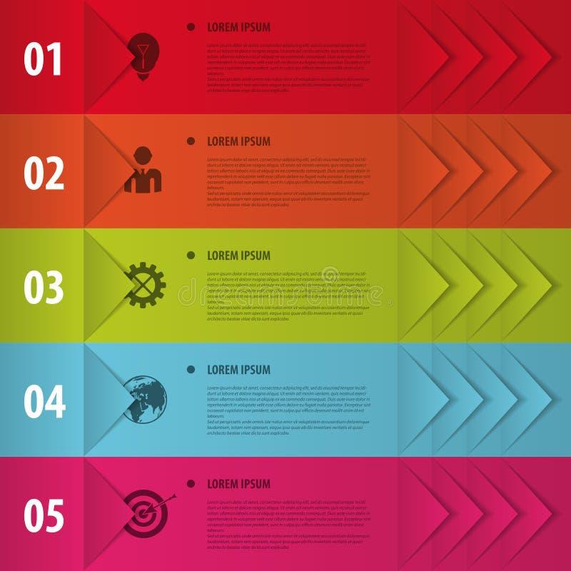 Bannières colorées Infographics pour vos présentations d'affaires illustration libre de droits