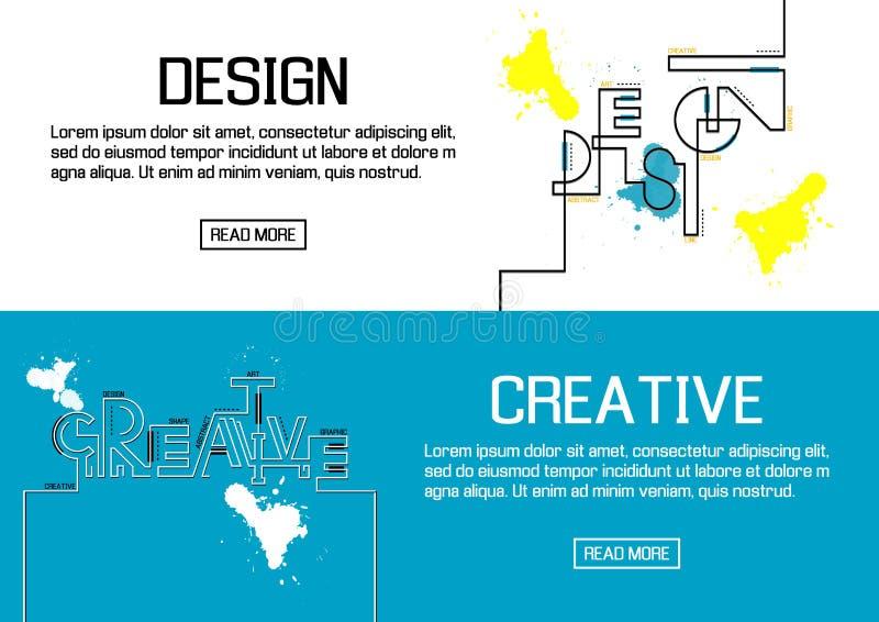 Bannières conçues pour la conception et créatif plats Vecteur illustration de vecteur