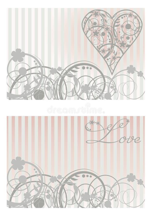 Bannières d'amour de vintage illustration de vecteur
