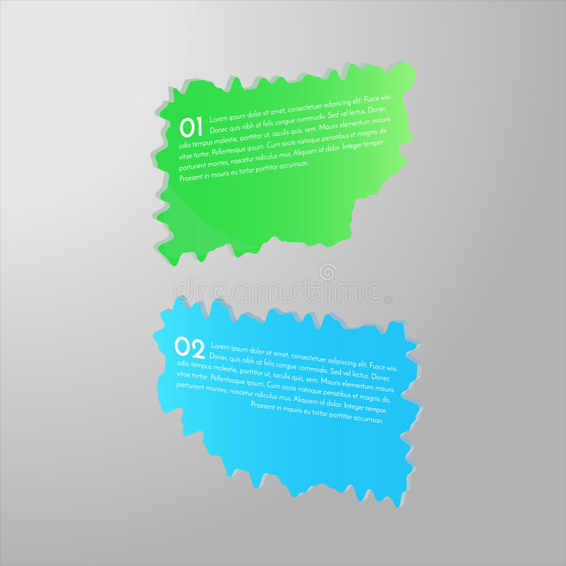 bannières 3D brillantes images libres de droits