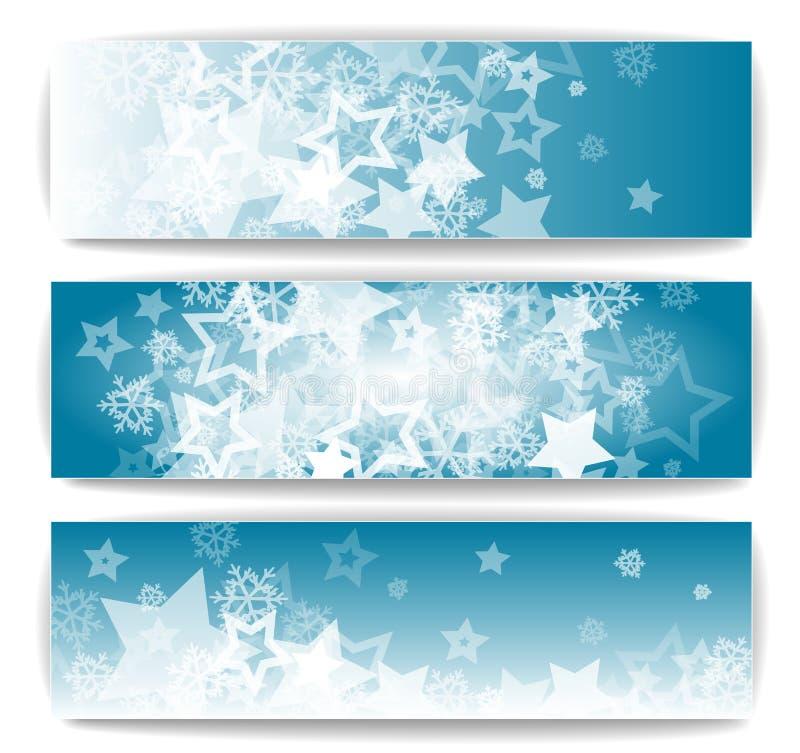Bannières d'hiver illustration de vecteur