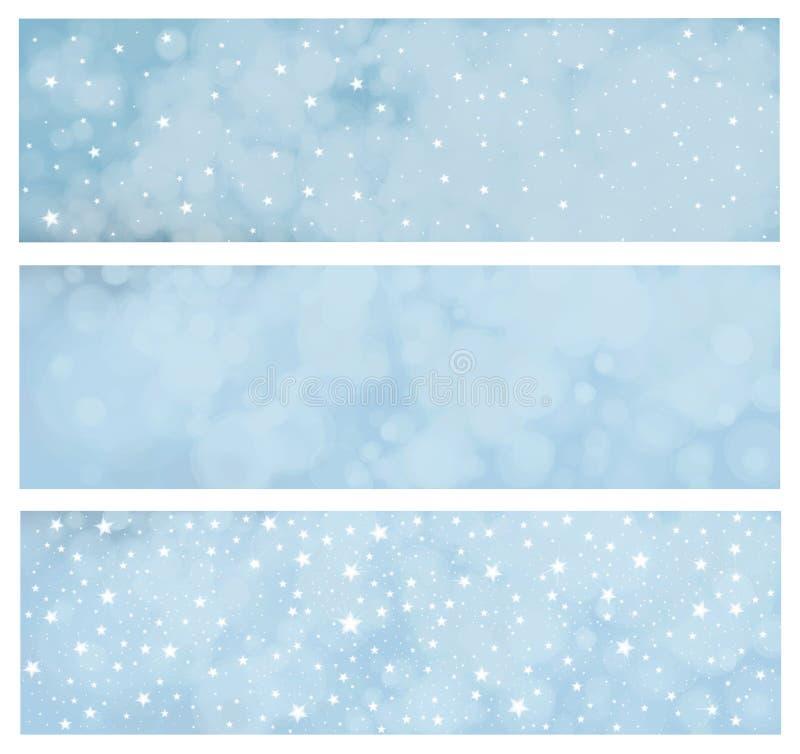 Bannières d'hiver de vecteur illustration libre de droits
