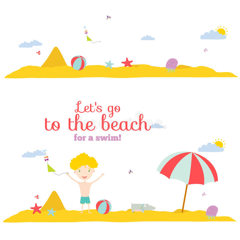Bannières d'illustration de vecteur pour le tourisme ou le camp illustration stock