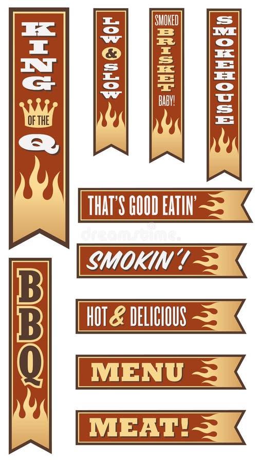 Bannières de barbecue illustration stock