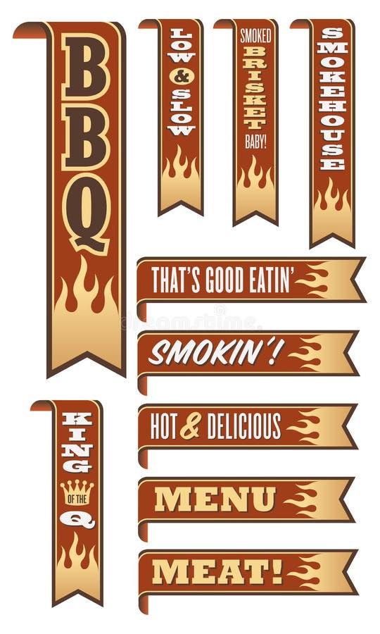 Bannières de barbecue illustration libre de droits
