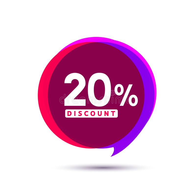 Bannières de bulle de vente de prix discount Label de prix à payer Conception plate de signe de promotion d'offre spéciale illustration libre de droits