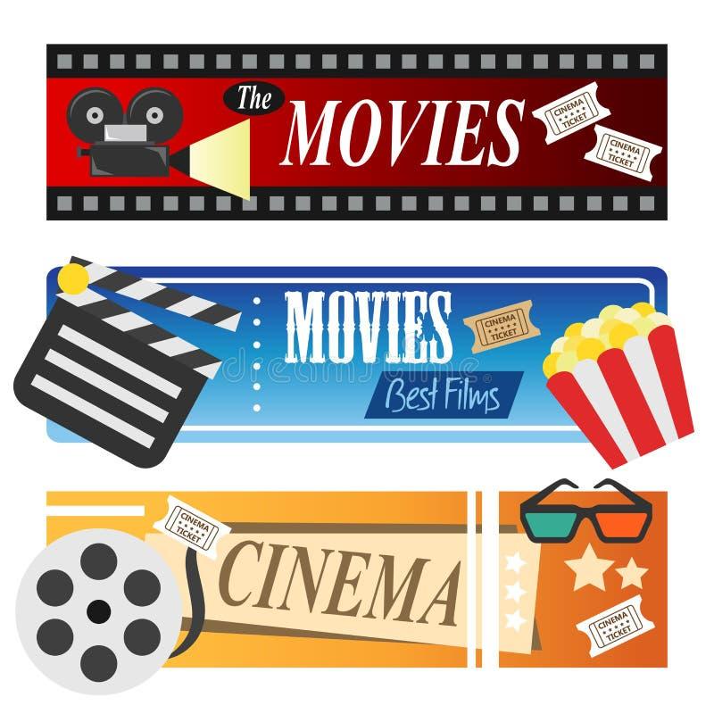 Bannières de film illustration libre de droits
