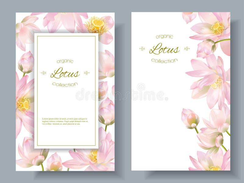 Bannières de fleur de Lotus illustration libre de droits