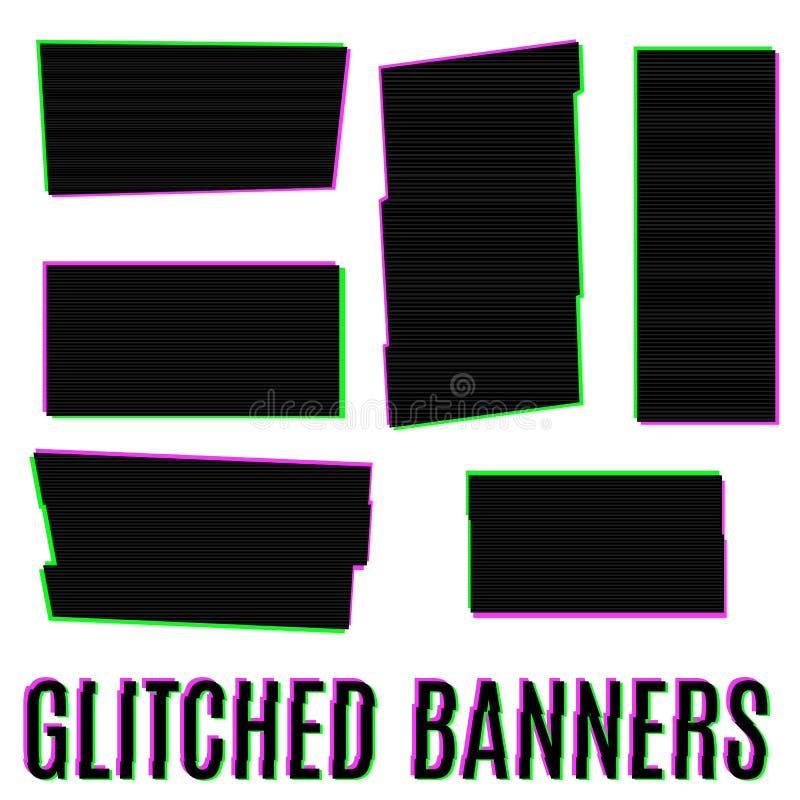 Download Bannières de Glitched illustration de vecteur. Illustration du multipliez - 56486180