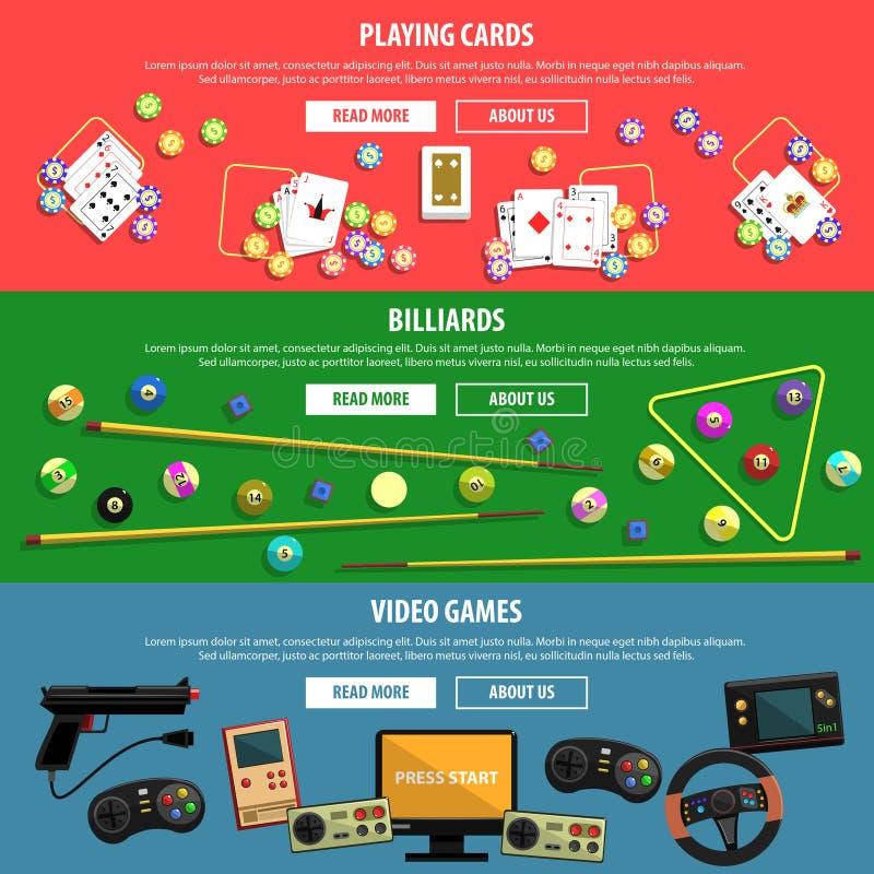Bannières de jeux réglées illustration libre de droits