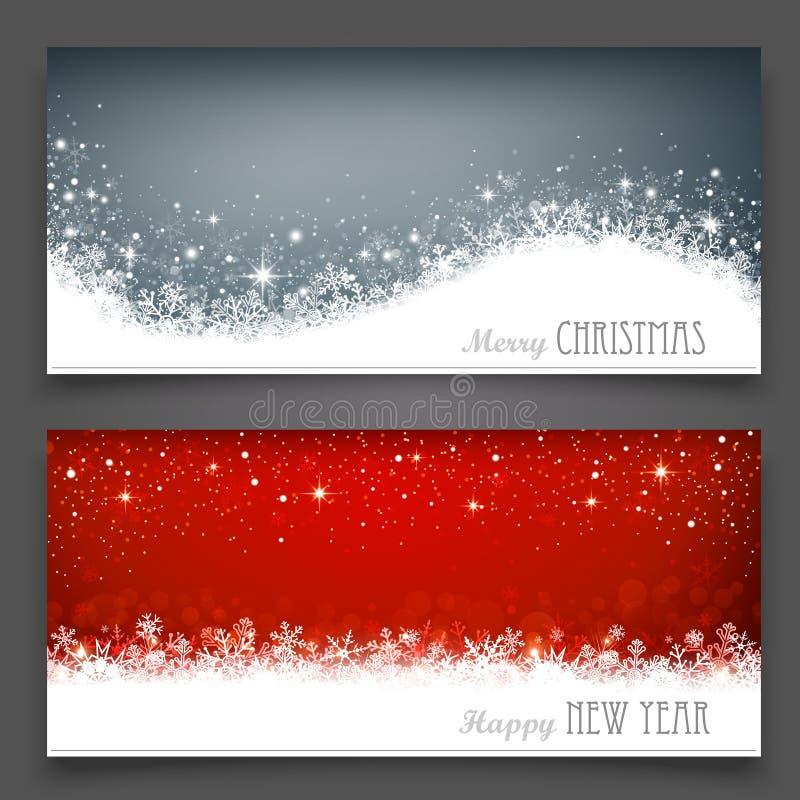 Bannières de Noël illustration libre de droits
