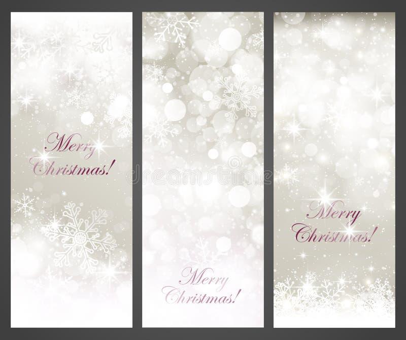 Bannières de Noël illustration de vecteur