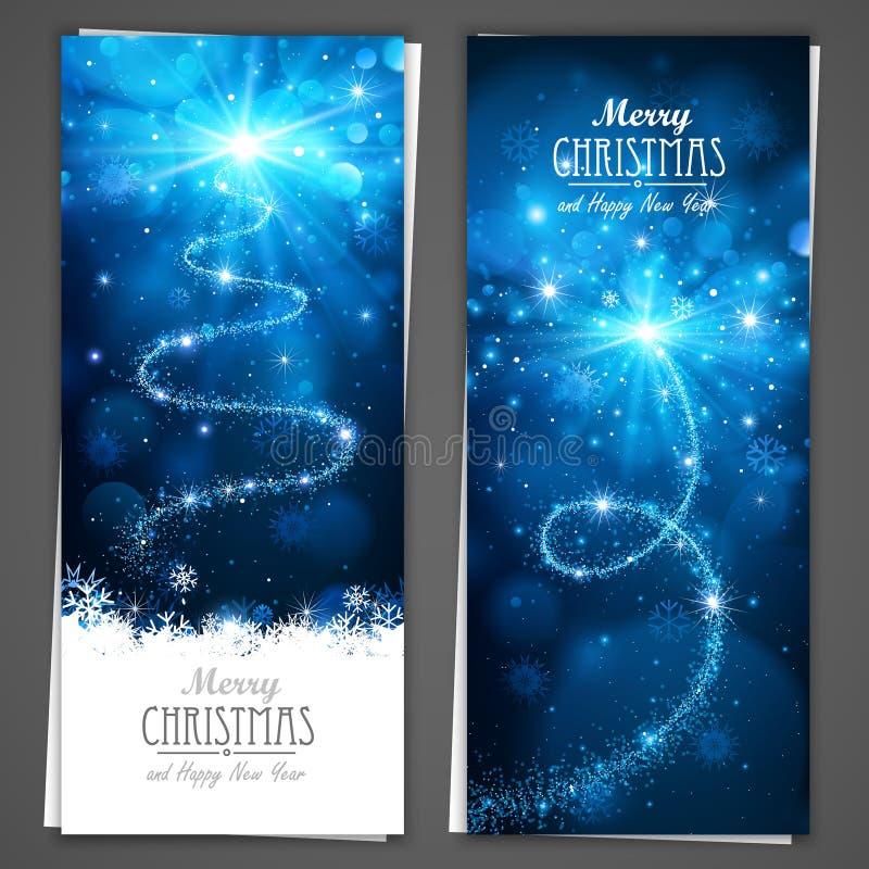 Bannières de Noël illustration stock